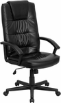 High Back Black Leather Executive Swivel Office Chair [GO-7102-GG]