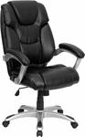 High Back Black Leather Executive Swivel Office Chair [GO-931H-BK-GG]