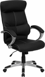 High Back Black Leather Executive Swivel Office Chair [H-9637L-1C-HIGH-GG]