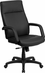 High Back Black Leather Executive Swivel Office Chair with Memory Foam Padding [BT-90033H-BK-GG]