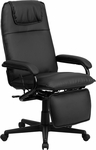 High Back Black Leather Executive Reclining Swivel Office Chair [BT-70172-BK-GG]