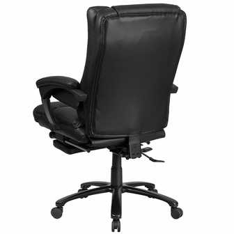 High Back Black Leather Executive Reclining Swivel Office Chair With Lumbar S