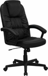 High Back Black Leather Executive Swivel Office Chair [BT-983-BK-GG]