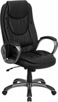 High Back Black Leather Executive Swivel Office Chair [CH-CX0068H04-GG]