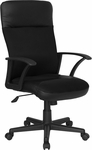 High Back Black Leather and Mesh Executive Swivel Office Chair [CP-A142A01-GG]