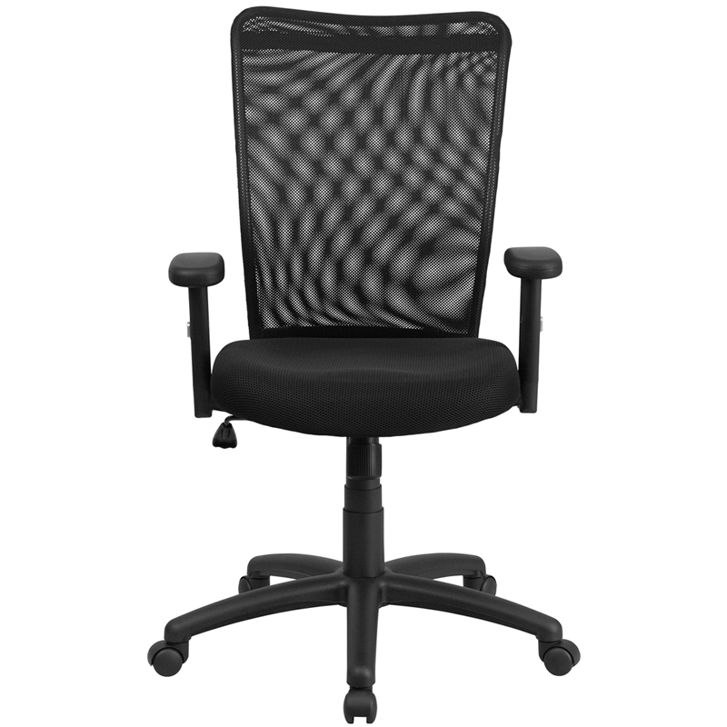 High Back Black Mesh Executive Ergonomic Swivel Office Chair With Arms CY54A