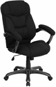 High Back Black Microfiber Upholstered Contemporary Office Chair