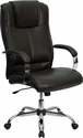 High Back Brown Leather Executive Office Chair