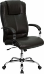 High Back Brown Leather Executive Swivel Office Chair [BT-9080-BRN-GG]