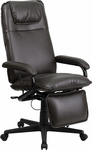 High Back Brown Leather Executive Reclining Swivel Office Chair [BT-70172-BN-GG]