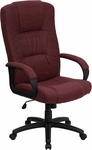 High Back Burgundy Fabric Executive Swivel Office Chair [BT-9022-BY-GG]