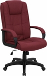 High Back Burgundy Fabric Executive Swivel Office Chair [GO-5301B-BY-GG]