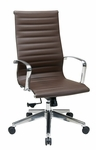 OSP Furniture High Back Eco Leather Office Chair with Locking Tilt - Chocolate [74608LT-FS-OS]