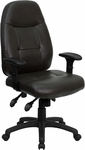High Back Espresso Brown Leather Executive Swivel Office Chair [BT-2350-BRN-GG]