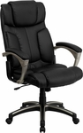 High Back Folding Black Leather Executive Swivel Office Chair [BT-9875H-GG]