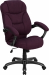 High Back Grape Microfiber Contemporary Executive Swivel Office Chair [GO-725-GRPE-GG]