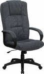 High Back Gray Fabric Executive Swivel Office Chair [BT-9022-BK-GG]
