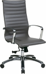 OSP Furniture High Back Eco Leather Office Chair with Locking Tilt - Grey [74602LT-FS-OS]