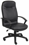 High Back LeatherPlus Executive Office Chair - Black [B8401-FS-BOSS]
