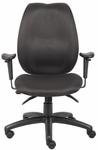 Ergonomic High Back Multi - Tilter Ergonomic Task Chair with Casters - Black [B1002-BK-FS-BOSS]