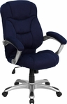 High Back Navy Blue Microfiber Contemporary Executive Swivel Office Chair [GO-725-NVY-GG]