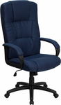 High Back Navy Blue Fabric Executive Swivel Office Chair [BT-9022-BL-GG]