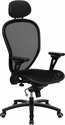 High Back Professional Super Mesh Chair Featuring Solid Metal Construction with Black Accents