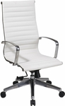 OSP Furniture High Back Eco Leather Chair with Locking Tilt - White [74023LT-FS-OS]