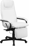 High Back White Leather Executive Reclining Swivel Office Chair [BT-70172-WH-GG]