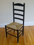 High Back Wooden Ladder Back Chair with Woven Seat [12-FS-DIX]