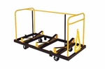 High Capacity Steel Frame Seminar Table Truck with Steel Casters - 32.5''W x 79''L x 48''H [STT1872NS-MFT]
