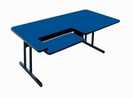 High Pressure Bi-Level Work Station with Steel Frame - 30''D x 48''W [BL3048-CRL]