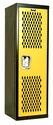 Home Team Locker Unassembled - Black Body & Yellow Door - 15''W x 15''D x 48''H