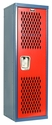 Home Team Locker Unassembled - Blue Body & Red Door - 15''W x 15''D x 48''H