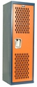 Home Team Locker Unassembled - Dark Blue Body & Orange Door - 15''W x 15''D x 48''H
