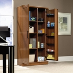 HomePlus Wooden 35''W x 71''H Storage Cabinet with Swing-Out Storage Door - Sienna Oak [411965-FS-SRTA]