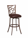 Homestead 26'' Swivel Barstool - Noyer Finish and Baldwin Chocolate Upholstery [HD-219-26-EN-097-FS-PSTL]