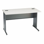 Hon Company 66000 Series Contemporary StationMaster Desk in Patterned Gray & Charcoal Finish [HON66557G2S-FS-SP]