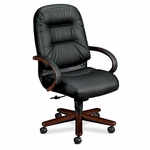 The HON Company Pillow Soft Executive High Back Wood Chair [HON2191NSR11-FS-SP]