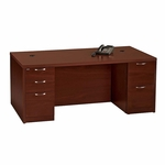 The HON Company Valido 11500 Series Contemporary Rectangle Top Desk in Mahogany Finish [HON115890AFNN-FS-SP]