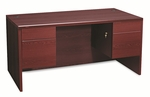 HON® 10500 Series 3/4-Height Double Pedestal Desk - 60w x 30d x 29-1/2h - Mahogany [HON10573NN-FS-NAT]