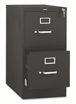 HON® 510 Series Two-Drawer Full-Suspension File,  Letter,  29''H x 25''D,  Black [HON512PP-FS-NAT]