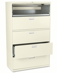 HON® 600 Series Five-Drawer Lateral File,42''W x 19.25''D,Putty [HON695LL-FS-NAT]