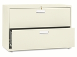 HON® 600 Series Two-Drawer Lateral File,  42''W x 19.25''D,  Putty [HON692LL-FS-NAT]