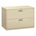 HON® 600 Series Two-Drawer Lateral File - 42w x 19-1/4d - Putty [HON692LL-FS-NAT]