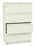 HON® 700 Series Four-Drawer Lateral File,  36''W x 19.25''D,  Putty [HON784LL-FS-NAT]