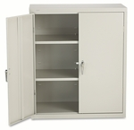 HON® Assembled Storage Cabinet,  36''W x 18.25''D x 41.75''H,  Light Gray [HONSC1842Q-FS-NAT]