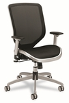HON® Boda Series High-Back Work Chair - Mesh Seat and Back - Black [HONMH02MST1C-FS-NAT]