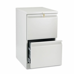 HON® Efficiencies Mobile Pedestal File w/Two File Drawers - 19-7/8d - Light Gray [HON33820RQ-FS-NAT]