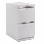 HON® Efficiencies Mobile Pedestal File w/Two File Drawers,  22-7/8''D,  Charcoal [HON33823RS-FS-NAT]